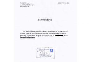 Spychologia ASO Peugeot, czyli jak odmówić naprawy gwarancyjnej