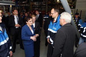 Premier Ewa Kopacz w fabryce BASF