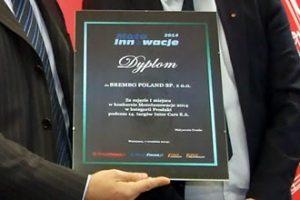 MotoInnowacje 2014 – wręczenie pamiątkowych dyplomów