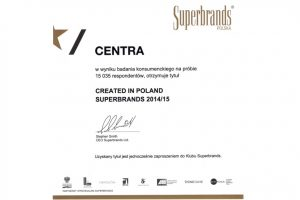 Centra z tytułem Created in Poland Superbrands