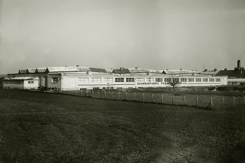 Pierwszy budynek produkcyjny Zahnradfabrik
