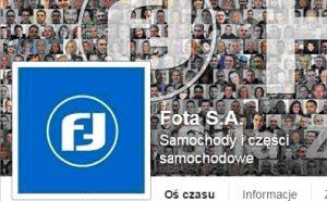 Fota S.A. z oficjalnym profilem na Facebooku