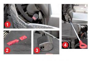 Sprawdzenie poziomu oleju w automatycznej, 5-stopniowej skrzyni biegów Mercedes-Benz