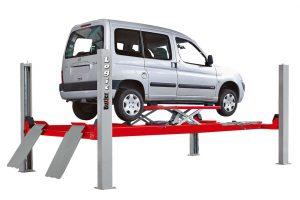 Nowy podnośnik 4-kolumnowy do geometrii aut dostawczych