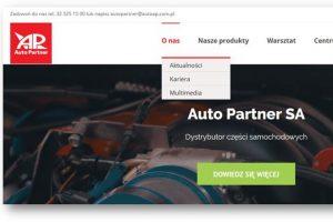 Auto Partner SA ma nową stronę internetową