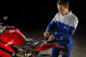 Mario Giacomella w TEXA & Larsson Moto Tour