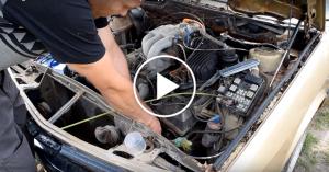 BMW odpala po 9 latach stania w krzakach