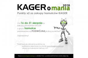 Podwójne punkty za zakupy hamulców KAGER