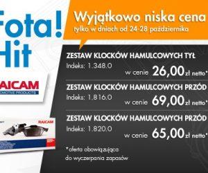 Fota: Zestawy klocków hamulcowych już od 26 zł netto