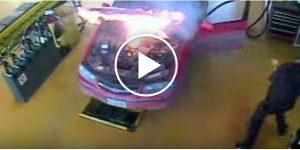 Samochód staje w płomieniach po zwykłej wymianie oleju [Film]