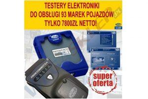 Markowe testery i urządzenie do wymiany oleju – promocje w Wega Sklep