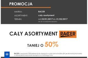 Asortyment marki RACER taniej aż o50%