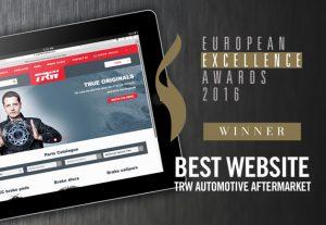 Trwaftermarket.com zdobywa nagrodę European Excellence Award za najlepszą stronę internetową 2016