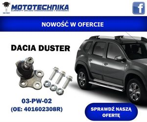 Nowość do Dacii Duster w ofercie firmy Mototechnika