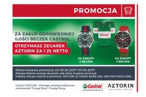 Markowe zegarki za zakup oleju
