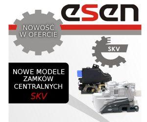 Nowe modele zamków centralnych wofercie Esen