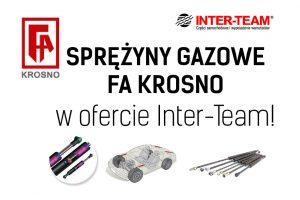 Sprężyny gazowe FA Krosno w ofercie Inter-Team