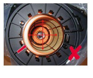 Błędny montaż wkładu filtra w silnikach V Audi