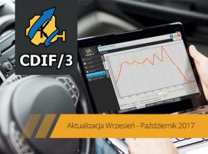 Aktualizacja systemu diagnostycznego CDIF/3 Wrzesień - Październik 2017