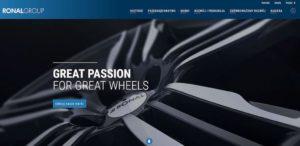 """""""Great Passion for Great Wheels"""": RONAL GROUP przedstawia swoją nową stronę firmową"""