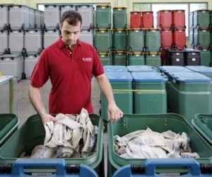 Bezpieczny pojemnik SaCon - transport i składowanie czyściw bez ryzyka