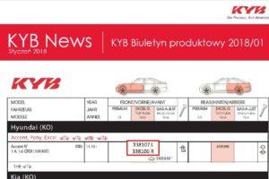 Biuletyn produktowy KYB 2018/01
