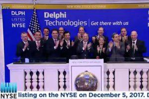 Delphi Technologies otworzyło sesję na Nowojorskiej Giełdzie Papierów Wartościowych