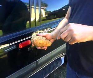 Jak otworzyć samochód za pomocą ziemniaka? [Film]