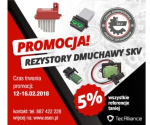 Promocja rezystorów dmuchawy SKV
