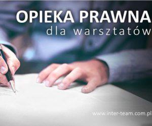 Opieka prawna dla warsztatów - nowy pomysł Inter Team