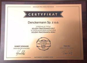 Denckermann Solidnym Pracodawcą 2017