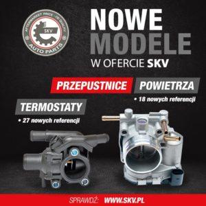 Nowe referencje przepustnic powietrza i termostatów SKV