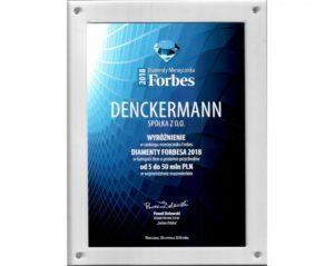 """Diament Forbesa"" dla Denckermanna"