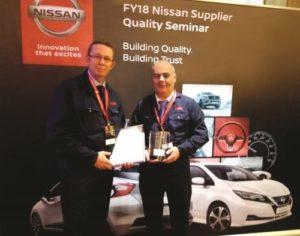 Zakład NSK wyróżniony nagrodą Nissan Quality Award