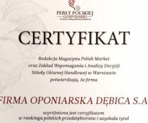 Dębica z Perłą Polskiej Gospodarki