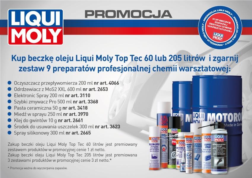 Oleje Liqui Moly w promocyjnej ofercie