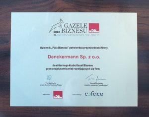 Denckermann z Gazelą Biznesu