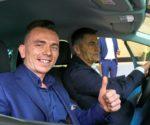 Laureat konkursu Brecka wygrał samochód i przejechał się z Hołowczycem