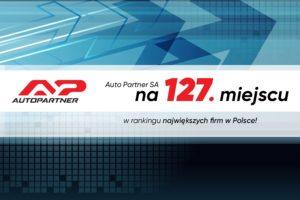 Auto Partner na 127. miejscu w rankingu największych firm w Polsce