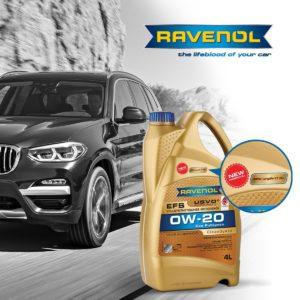 Ravenol EFS SAE 0W-20z aprobatą OEMBMW