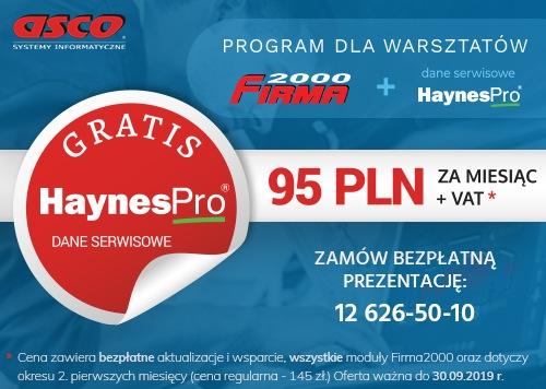 Promocja na oprogramowanie Firma2000 z danymi HaynesPro