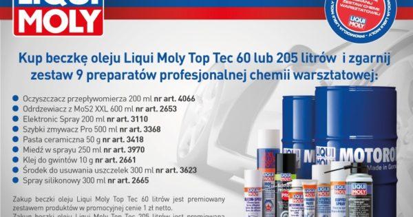 Promocja olejów Top Tec Liqui Moly