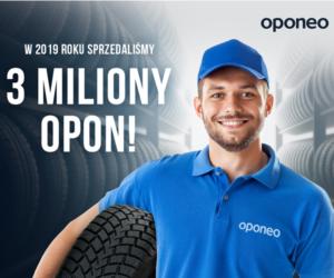 OPONEO sprzedało 3 miliony opon w 2019 r.