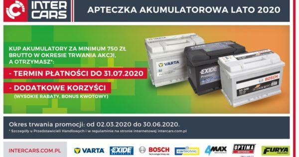 Apteczka akumulatorowa lato 2020