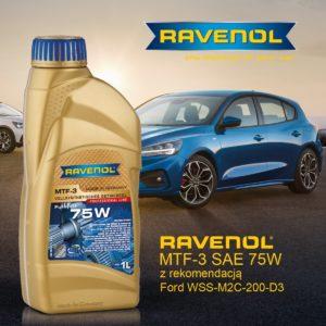 Olej Ravenol otrzymał rekomendację Forda