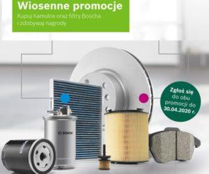 Wiosenne promocje – kupuj hamulce oraz filtry Boscha i odbieraj nagrody!