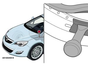 Opel Astra: odgłosy z obszaru prawego słupka A w czasie jazdy