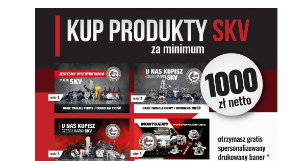 Baner z danymi Twojej firmy gratis – promocja SKV