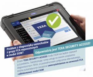 Nowa usługa TEXA dla pojazdów z modułem SGW