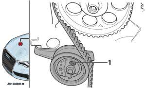 Audi A3: odgłos pisku z przedziału silnikowego na biegu jałowym